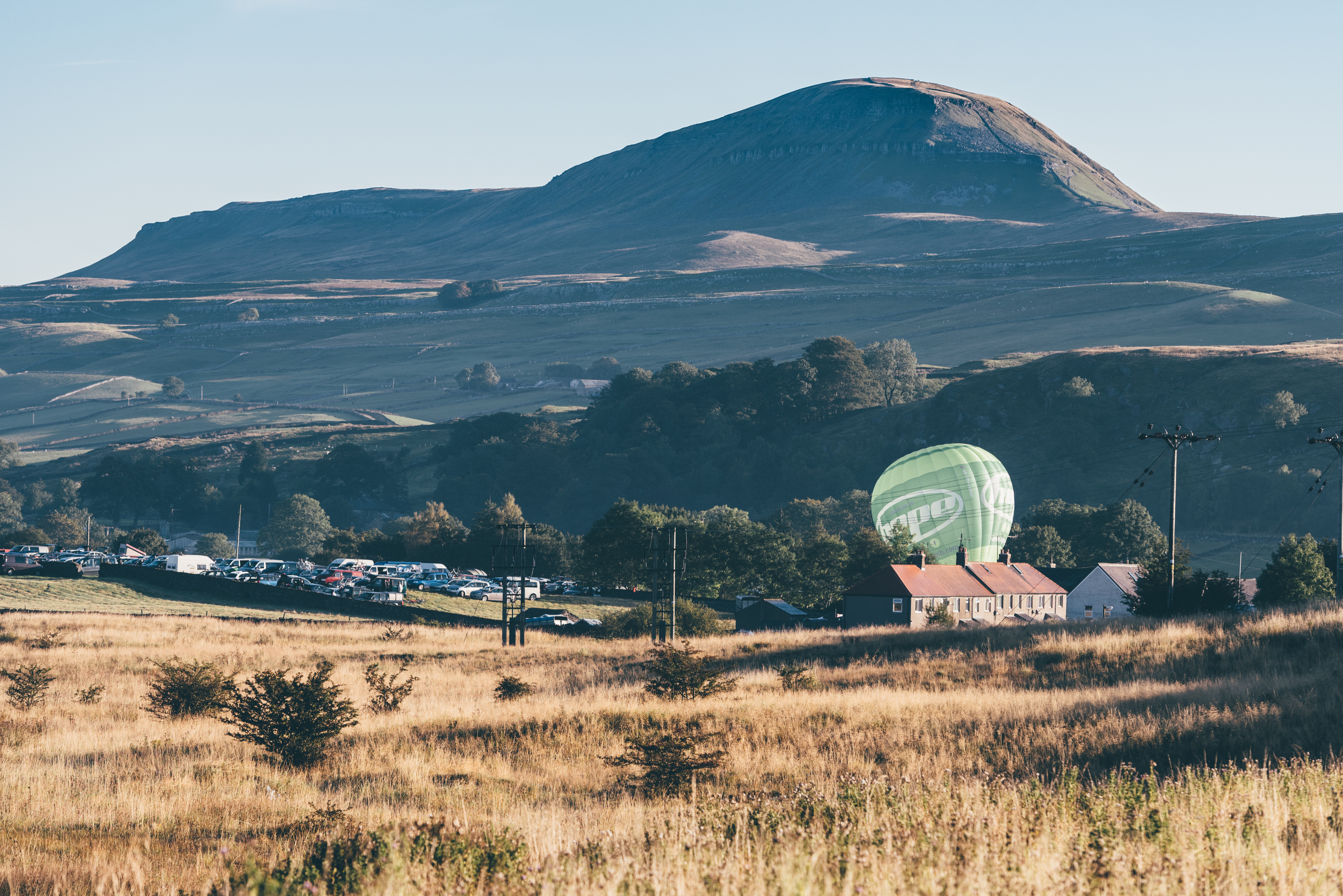 It's a good feeling to wake up to clear blue skies and a Hope balloon. Photo Credit: Russell Ellis